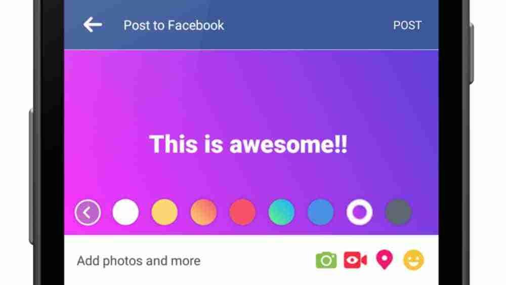 Facebook sfondi colorati sui post come fare