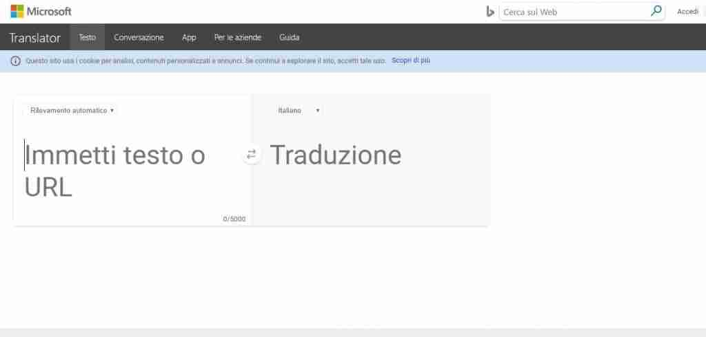 Microsoft Bing Translator