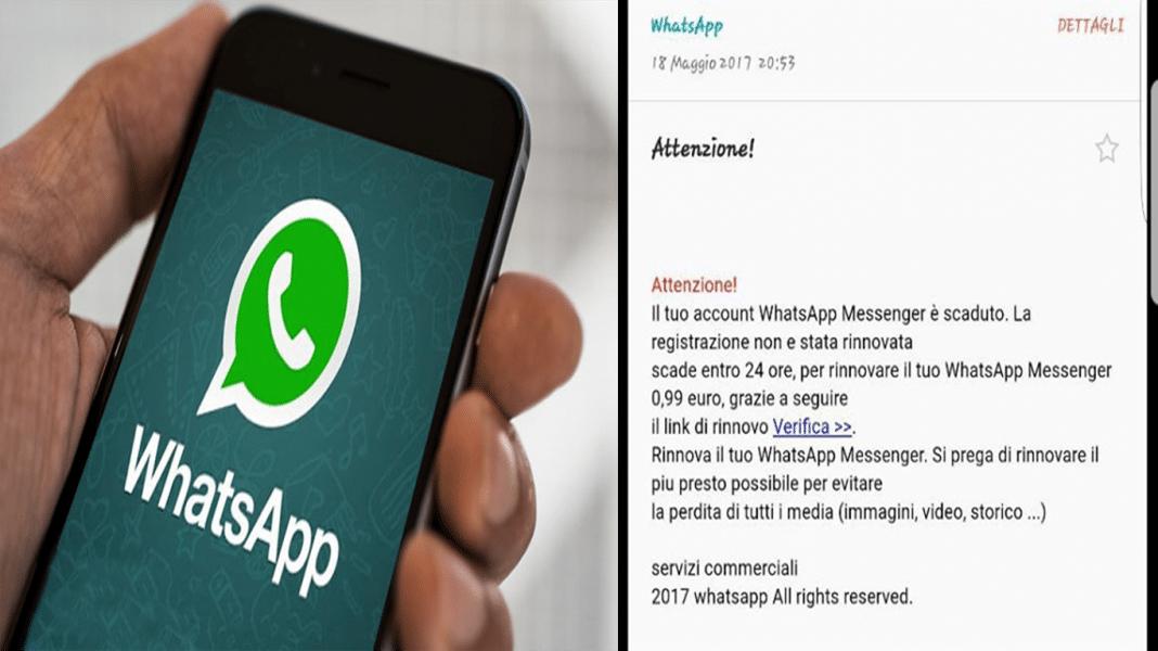 WhatsApp account scaduto è una truffa non pagate!!!!!