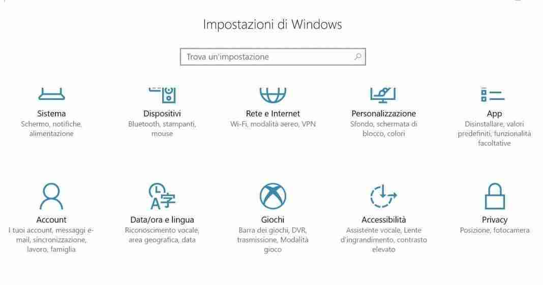 come cambiare lingua windows 10