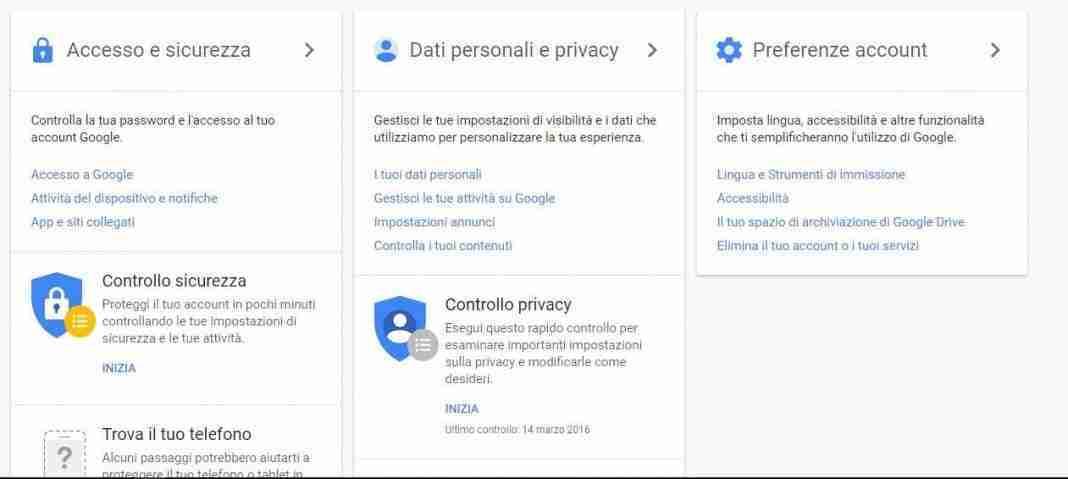 eliminare Gmail