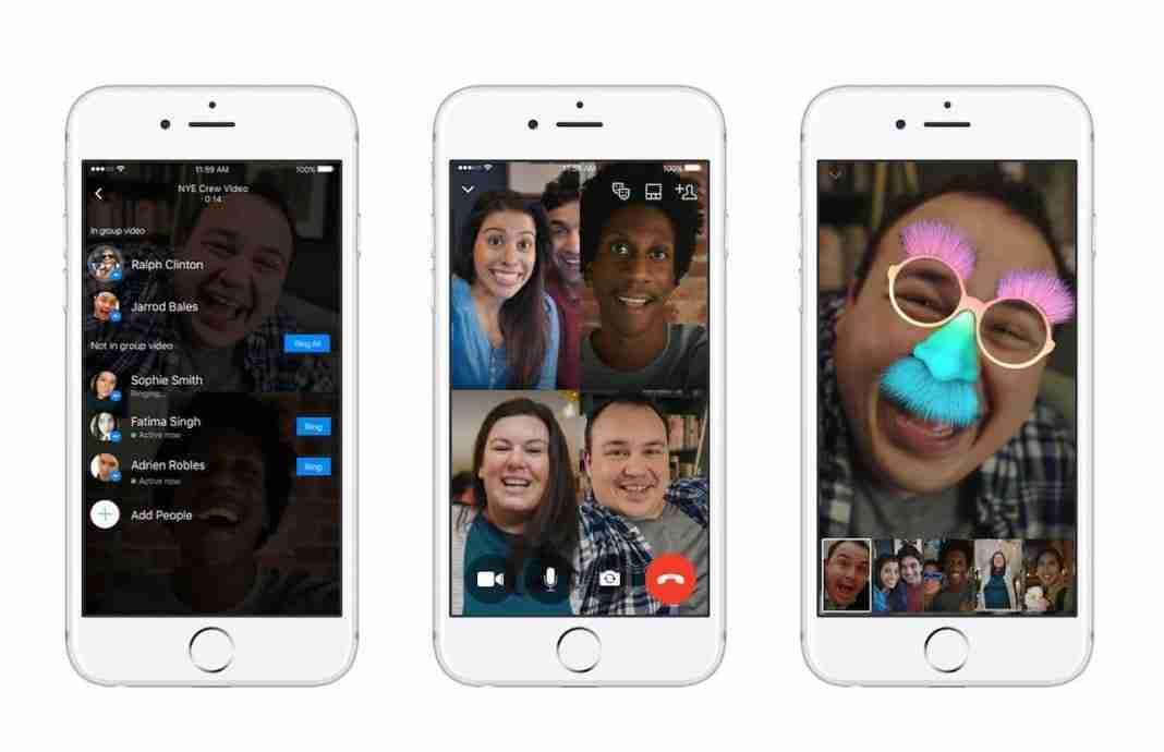 Videochiamate di gruppo su Messenger
