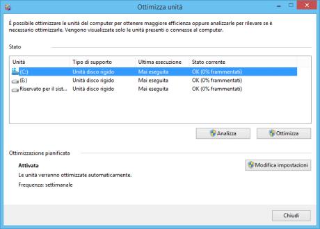 Deframmentarel'hard disk