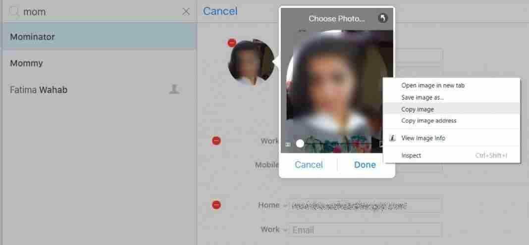 Come estrapolare un'immagine di contatto da iPhone