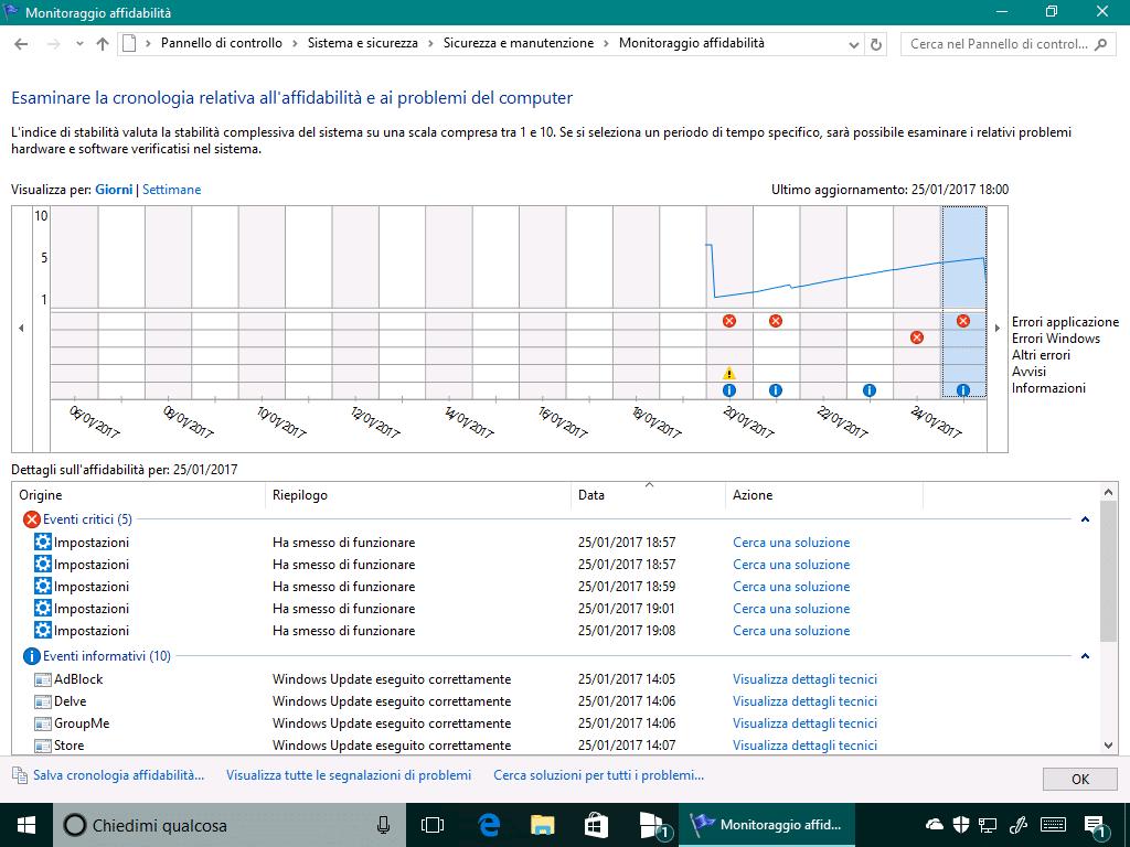 You are currently viewing Cronologia Affidabilità Windows : cos'è e come funziona