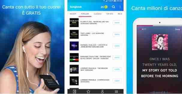 Karaoke di canzoni italiane