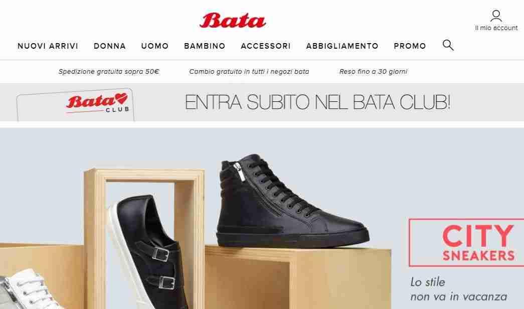 ecdeed2a16dc8 Bata.it  su questo sito Web è possibile usufruire della spedizione gratuita  per ordini con importi superiori ai 50 euro