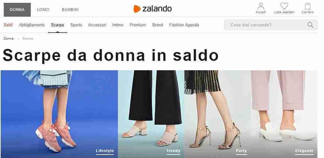 e9a00c03faa98 Zalando noto per l acquisto di scarpe che offre spedizione e reso gratuiti  e offre la possibilità di pagare in contrassegno