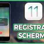 Registrare lo schermo iPhone con iOS 11