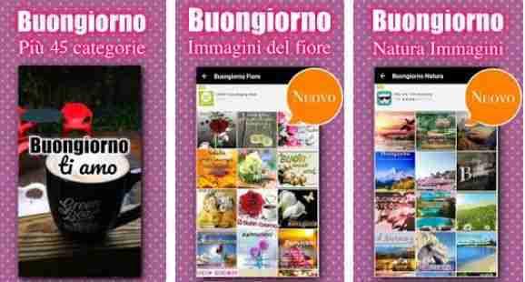 Buongiorno augura messaggi in italiano