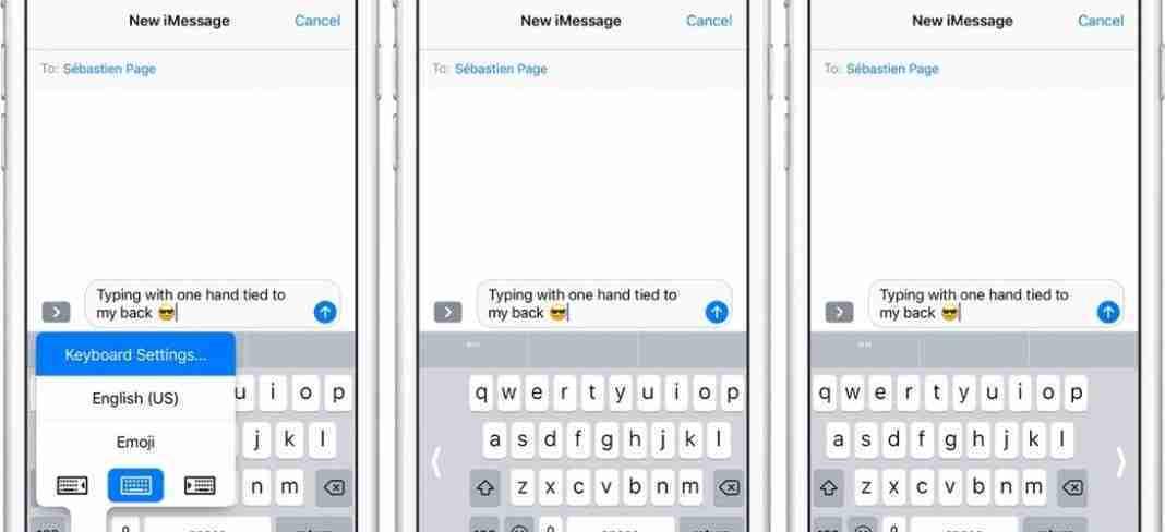 Come utilizzare la tastiera a una mano sul tuo iPhone. Apple con iOS 11 ha introdotto la funzione della tastiera a una mano.