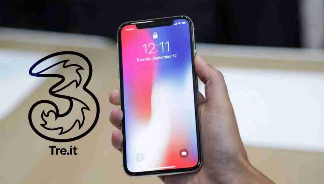 IPhone X con Tre