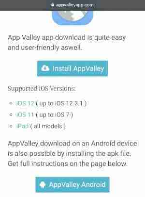 appvalley versione ios