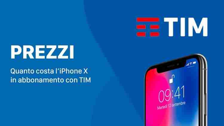iPhone X con TIM