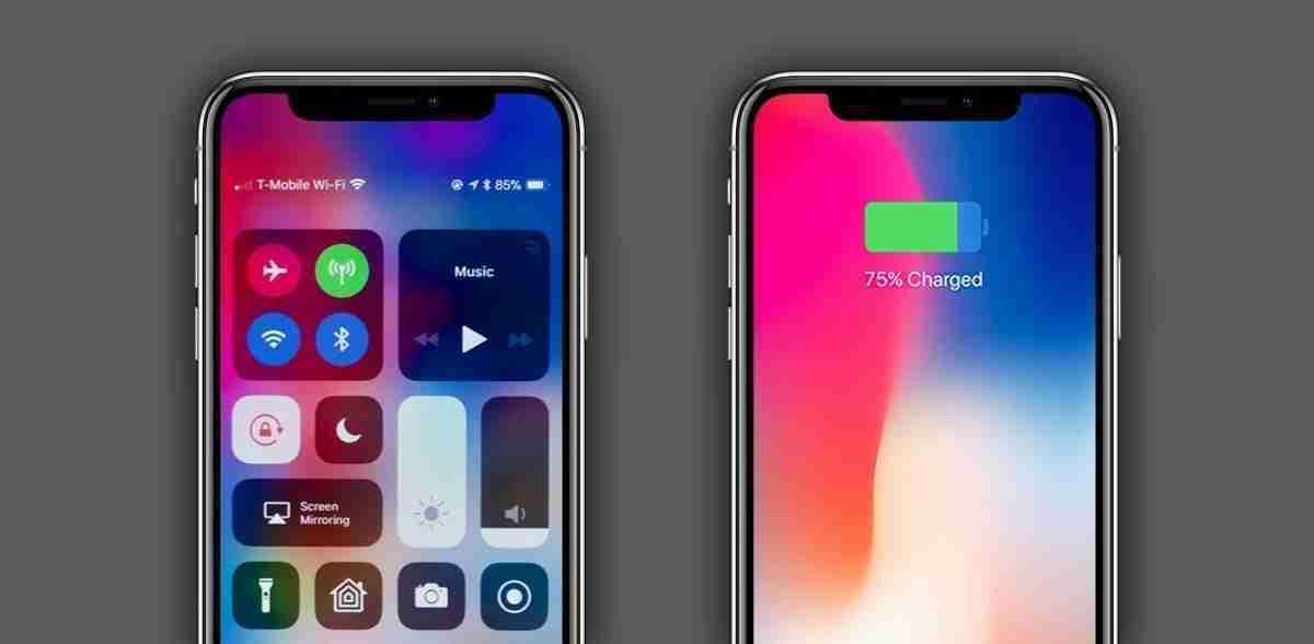 verificare la percentuale della batteria dell'iPhone X