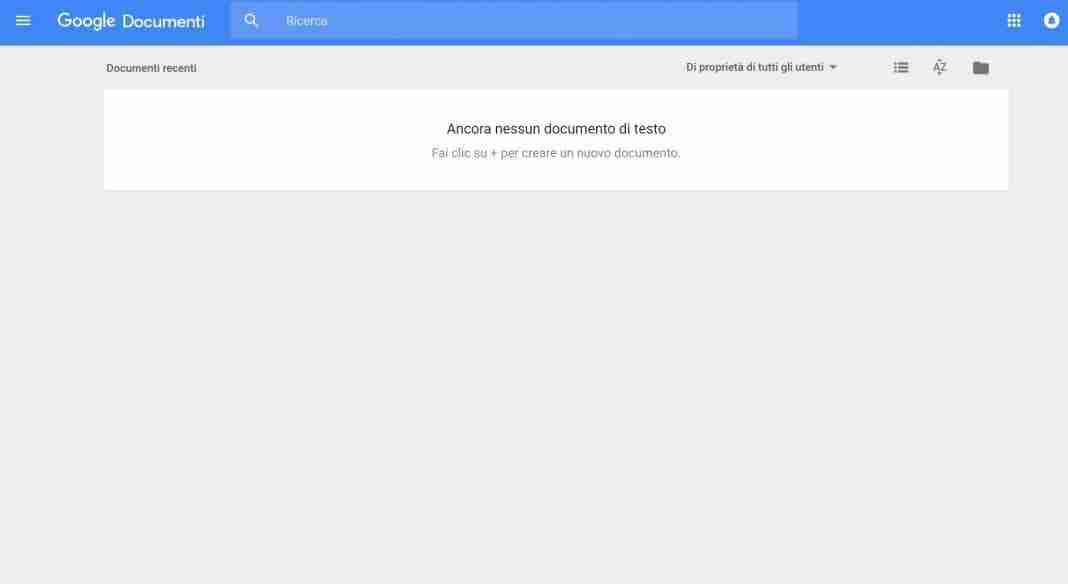 Come creare un documento di Google
