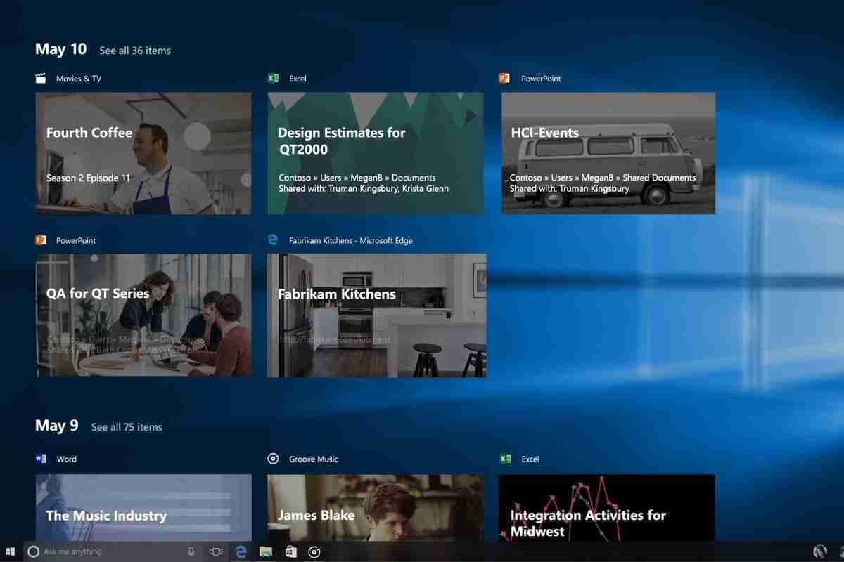 Come disattivare la linea temporale su Windows 10 Timeline