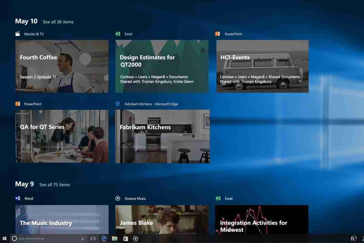 Come disattivare la linea temporale su Windows 10 Timeline
