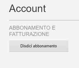 Eliminare account Netflix