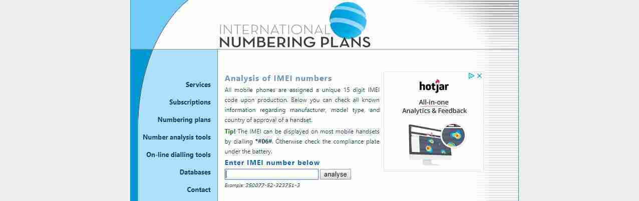 International Numbering Plans