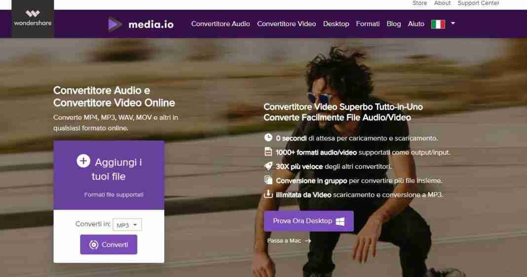 Media.io un MP3 converter online