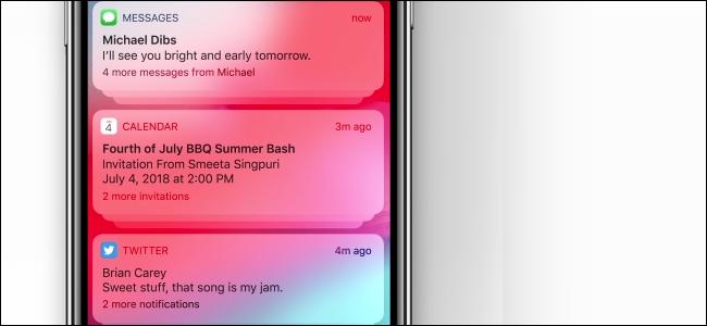 Gli iPhone ricevono notifiche raggruppate in iOS 12