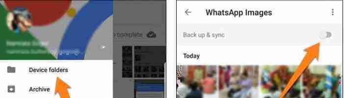 COME DISATTIVARE IL BACKUP AUTOMATICO IN GOOGLE FOTO di Whatsapp