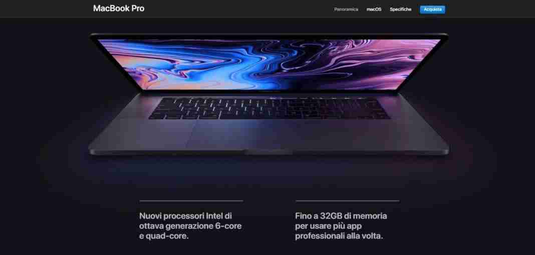 Costo MacBook Pro 2018 Touch Bar e Touch ID