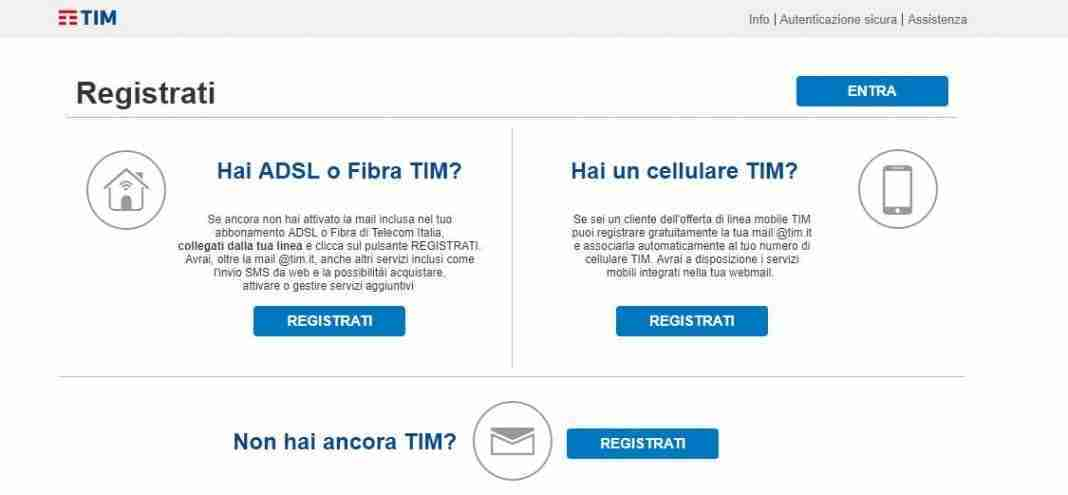 Creare email Alicemail TIM Mail