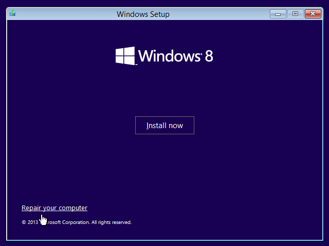 Ripristino automatico di Windows