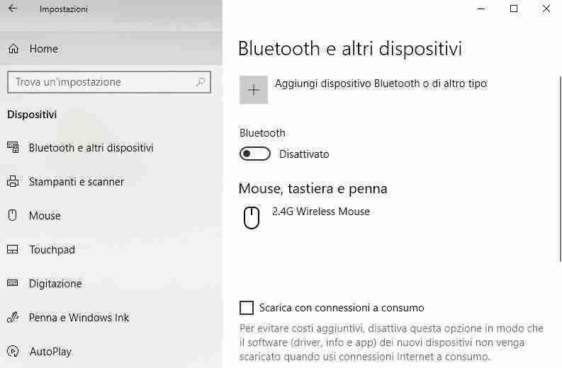 Attivare Bluetooth del PC