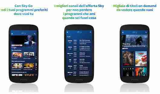 Come usare Sky Go dispositivi Android e iOS