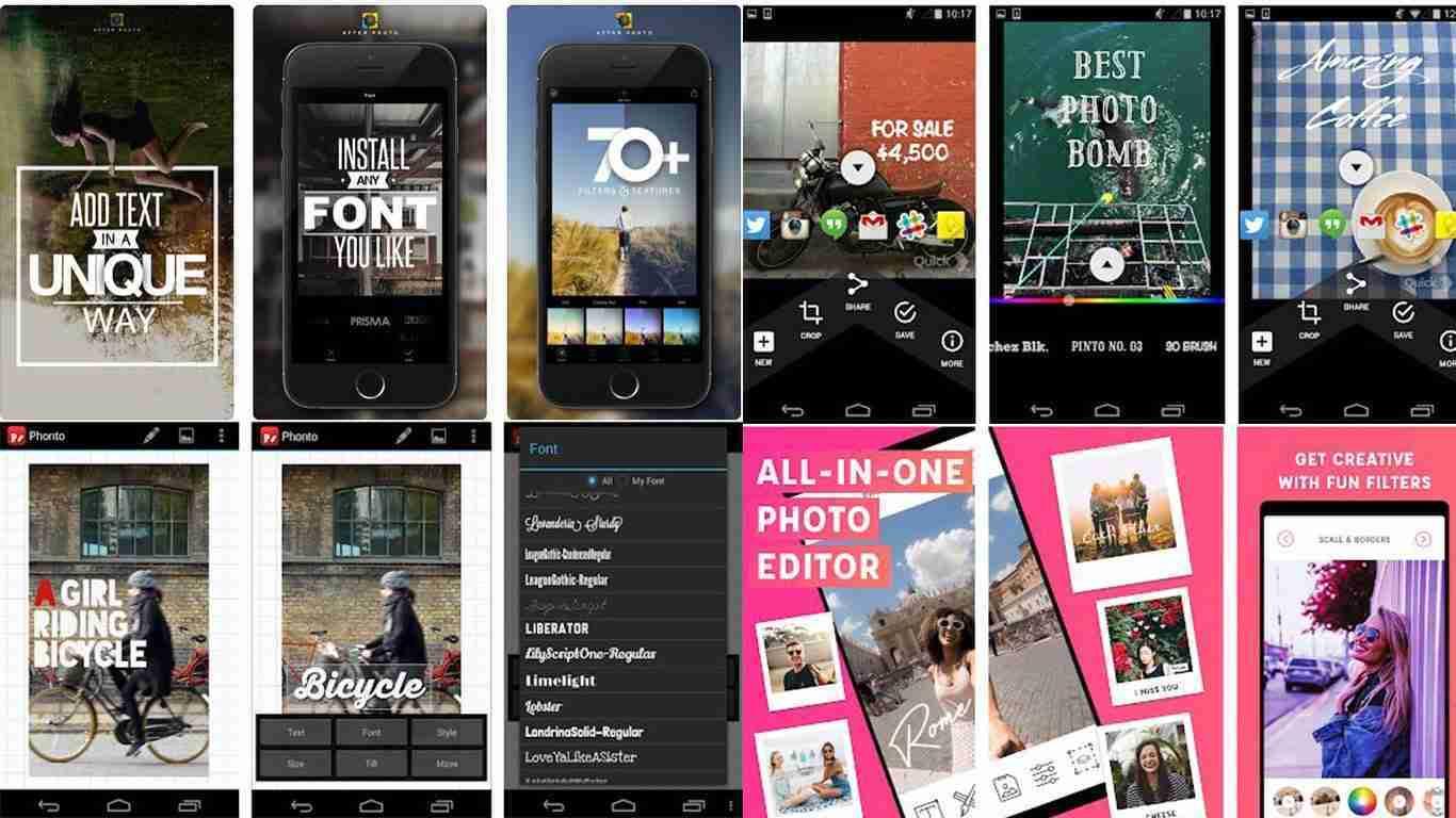 Migliori app per aggiungere testo alle tue foto per Android e iOS