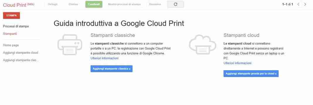 Stampa iPhone con Google Cloud Print