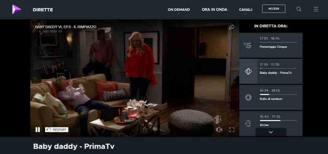 Come guardare dirette su Mediaset Play