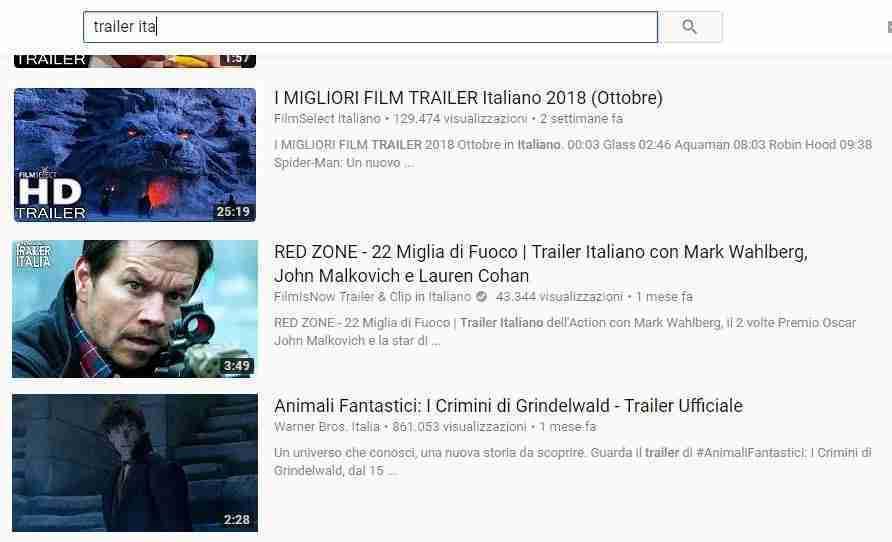 YouTube trailer film