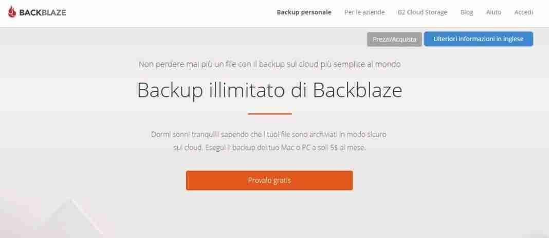 Backblaze backup Mac