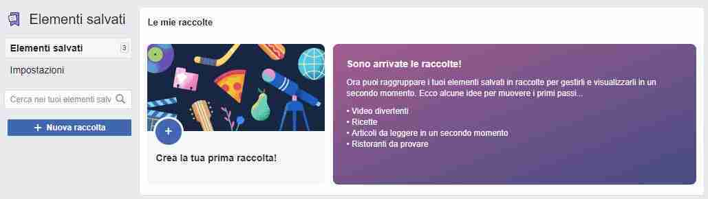 Raccolte su Facebook