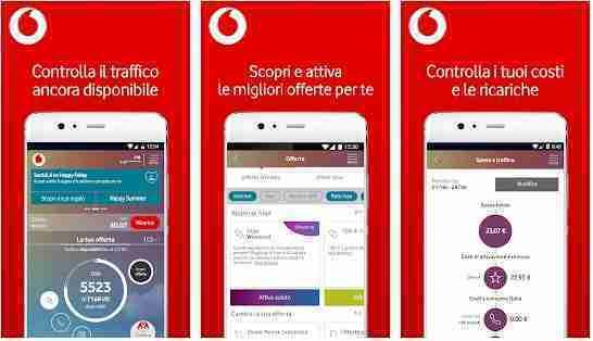 Vodafone come sapere il credito residuo via app