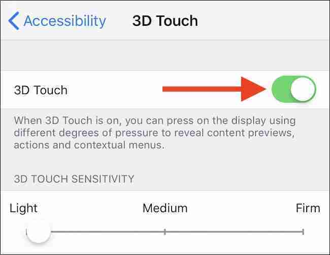 Come abilitare o disabilitare il 3D Touch