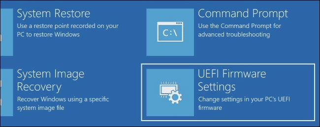 Impostazioni firmware UEFI