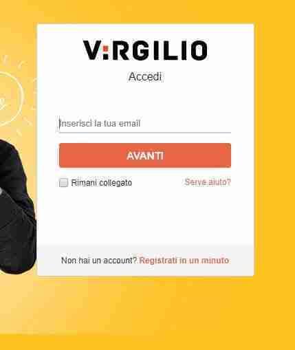 Virgilio mail login da browser