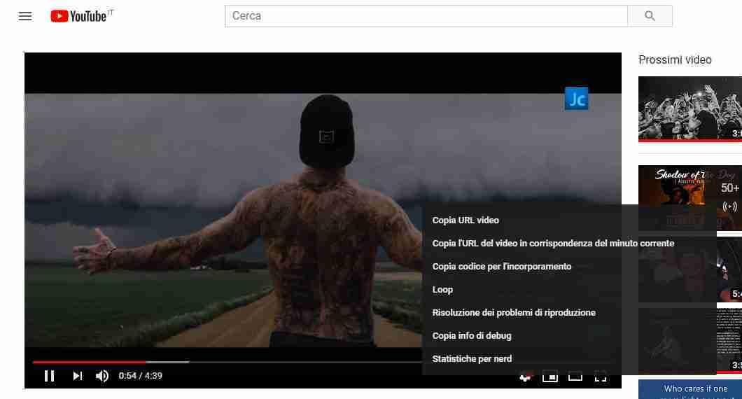 Come mettere in loop un video di Youtube