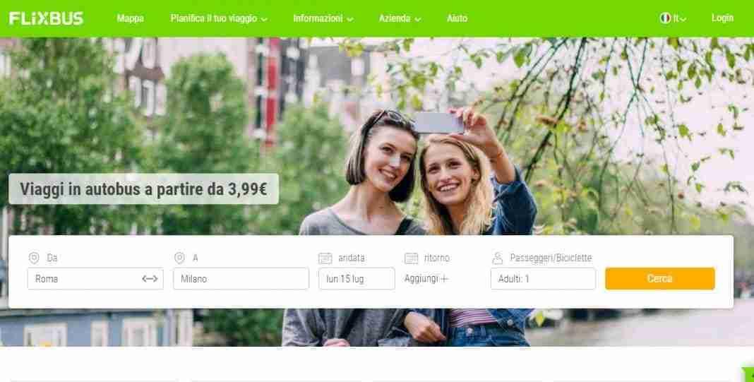 Come prenotare biglietto FlixBus da sito web