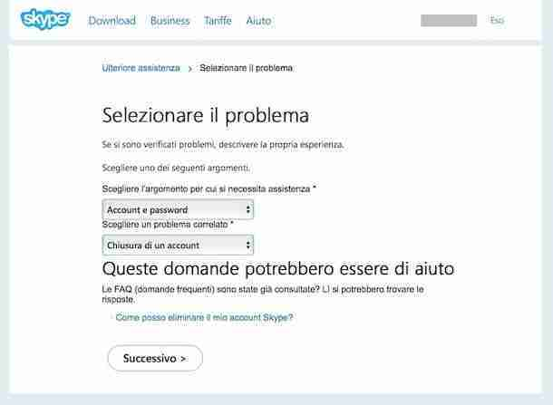 Come cancellarsi e eliminare account Skype