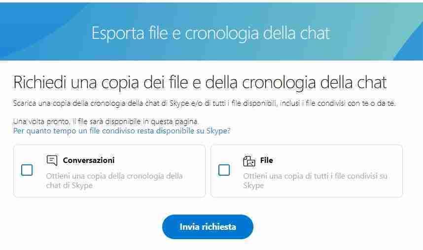 Come scaricare la cronologia della chat di Skype