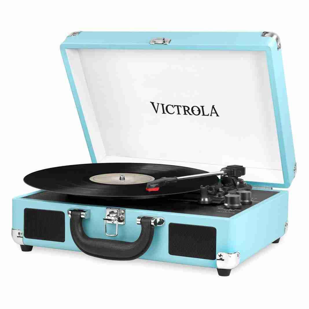 Giradischi a valigia vintage Victrola