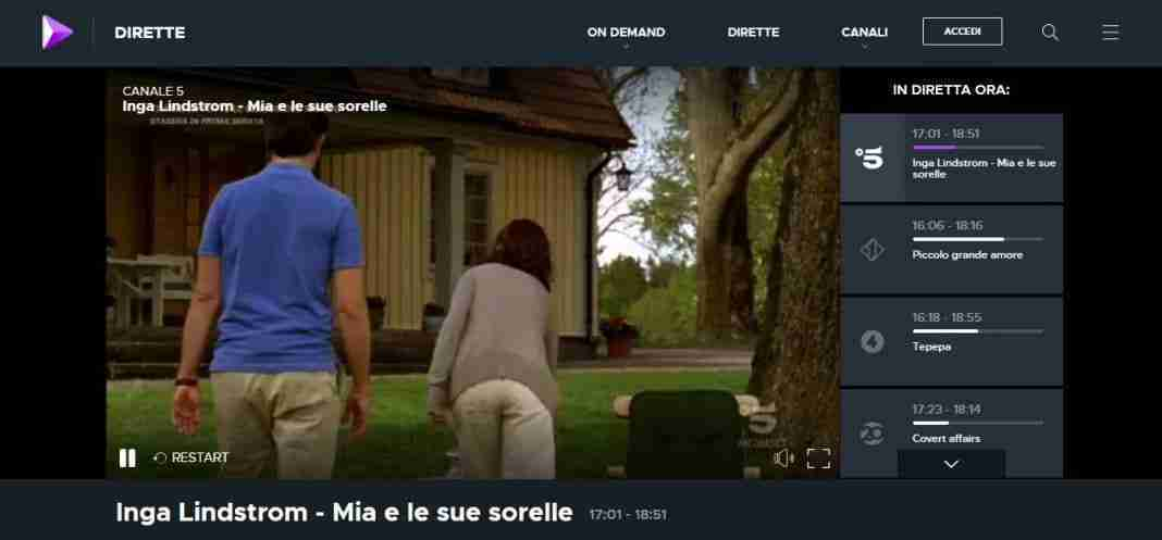 Mediaset Play - vedere UEFA Champions league in streaming gratis