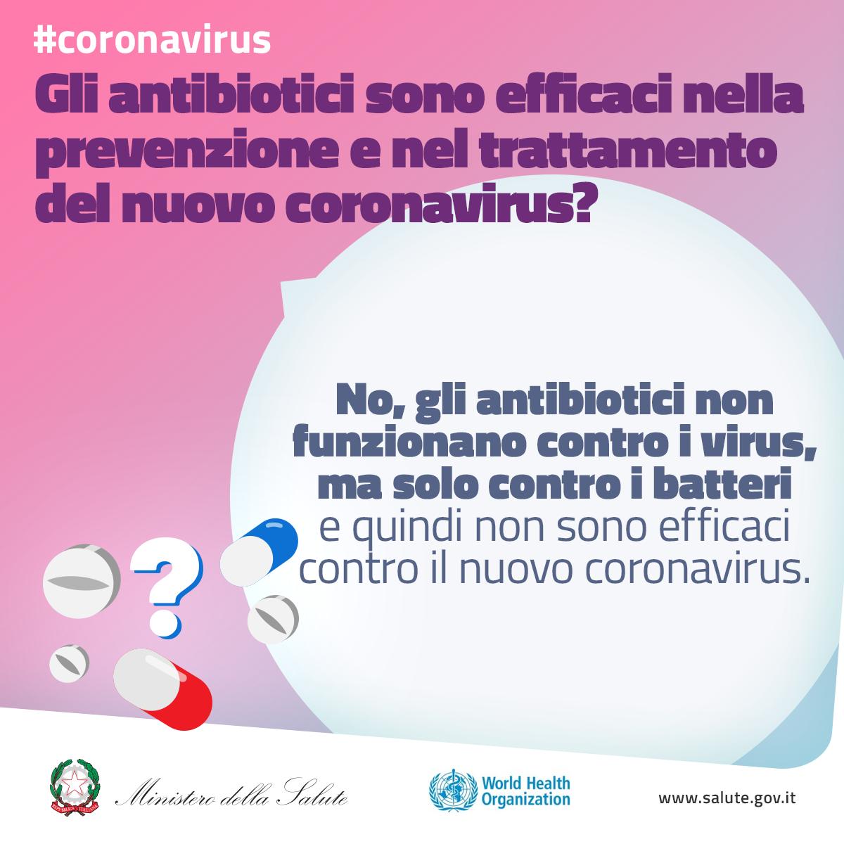 Gli antibiotici sono efficaci nella prevenzione e nel trattamento del nuovo coronavirus