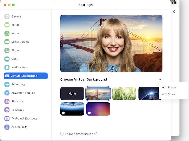 Come usare uno sfondo virtuale in Zoom Meeting